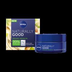 Nivea Naturally Good Възстановяващ нощен крем с органично арганово масло 50 мл