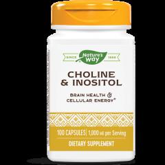 Nature's Way Choline/ Inozitol Витамин В4-В8 за нормалната дейност на мозъка 250/250 мг х100 капсули