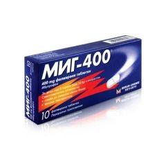 Миг-400 При болка и висока температура 400 мг х10 таблетки Berlin-Chemie