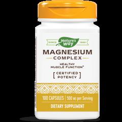 Nature's Way Magnesium Complex Магнезий комплекс в здрави кости, зъби и мускули 250 мг х100 капсули