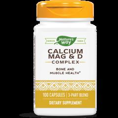 Nature's Way Calcium/Mag/D Complex Калций, магнезий, витамин D 166/83/67 мг х100 капсули