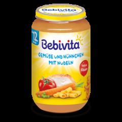 Bebivita пюре зеленчуци, спагети и пилешко 12М + 250 гр