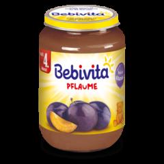 Bebivita пюре сини сливи без глутен 4М+ 190 гр