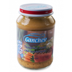 Ganchev Пюре телешко месо със зеленчуци 4М+ 190 гр