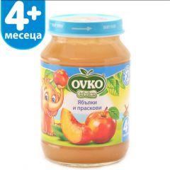 Ovko Bebelan Ябълки и праскови Пюре 4М+ 190 гр