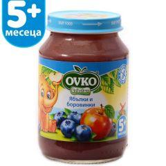 Ovko Bebelan Ябълки и боровинки Пюре 5М+ 190 гр