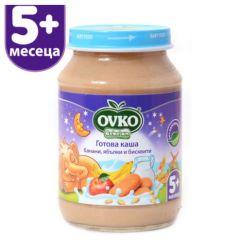 Ovko Bebelan Готова каша банани, ябълки и бисквити 5М+ 190 гр