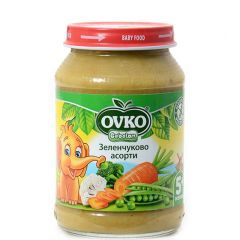 Ovko Bebelan Зеленчуково асорти Пюре 5М+ 190 гр