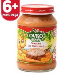 Ovko Bebelan Телешко със зеленчуци 6М+ 190 гр