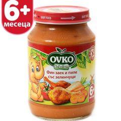 Ovko Bebelan Фин заек и пиле със зеленчуци 6М+ 190 гр
