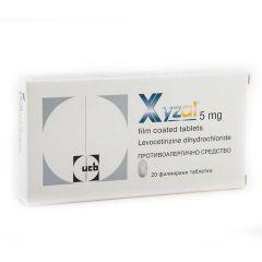 Ксизал при алергии 5 мг х20 таблетки UCB