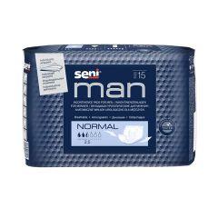 Seni Man Normal Урологични подложки за мъже 3 капки х15 бр