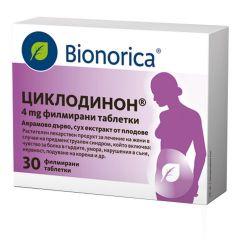 Bionorica Циклодинон при ПМС и менструални болки 4 мг х30 таблетки