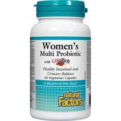 Natural Factors Women's Multi Probiotic Пробиотик за жени с червена боровинка 500 мг х 60 капсули