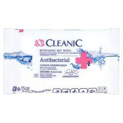 Cleanic Антибактериални мокри кърпи за ръце х15 бр