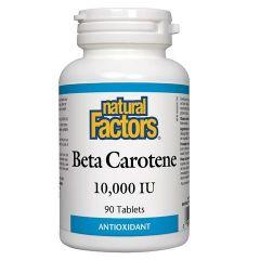 Natural Factors Beta Carotene за зрението, кожата и имунитета 10000 IU х 90 таблетки