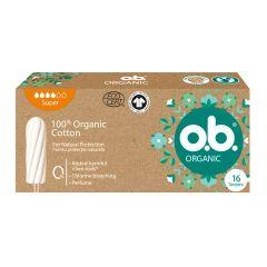 O.B. Organic Super Дамски тампони от органичен памук х16 бр