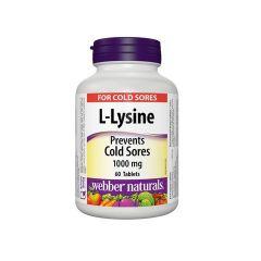 Webber Naturals L-Lysine Л-Лизин 1000 мг х 60 таблетки