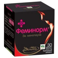 Borola Feminorm Феминорм за менопауза 420 мг х30 капсули