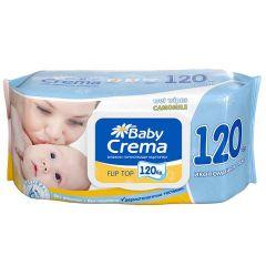 Baby Crema Бебешки мокри кърпички с екстракт от лайка с капак х120 бр