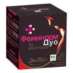 Borola Feminorm Duo Феминорм дуо за менопауза 440 мг х30 V капсули