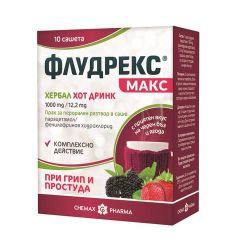 Флудрекс макс хербал хот дринк 1000 мг/ 12.2 мг х10 сашета Chemax Pharma