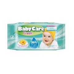 Baby Care Fresh Бебешки мокри кърпи с екстракт от невен x63 бр