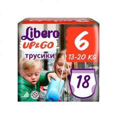 Пелени - гащички Libero Up&Go Размер 6 Jumbo х18 бр