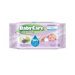 Baby Care Calming Бебешки мокри кърпи с екстракт от лавандула x63 бр