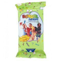 Wet Hankies School Детски мокри кърпи х15 бр
