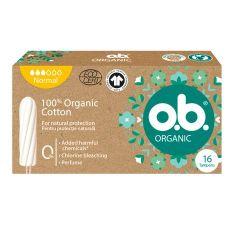 O.B. Organic Normal Дамски тампони от органичен памук х16 бр