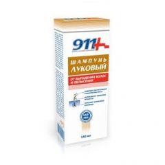 911 Луков Шампоан за коса при косопад 150 мл Tvins Tek