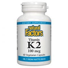 Natural Factors Vitamin K2 /MK-7/ за здравето на костите и сърдечно-съдовата система 100 мкг х 60 капсули