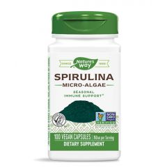 Nature's Way Spirulina Micro Algae при слаб имунитет и умора 380 мг х100 капсули