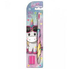Naturaverde DISNEY Toothbrush For Children Be a Unicorn Детска четка за зъби с капаче Еднорог