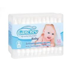 Ganchev Baby Kлечки за уши антибактериални с протектор 0М+ 56 бр