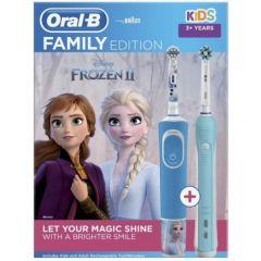 Oral-B PRO 1 700 Turquoise Електрическа четка за зъби + Oral-B D100 Vitality Frozen Електрическа четка за зъби за деца 3+ години Procter & Gamble Комплект