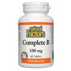 Natural Factors Complete B Витамин В Комплекс 100 мг 60 таблетки