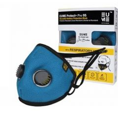 Eume Protect+ Pro 95 Защитна антибактериална маска за деца с 2 клапана синя