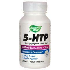 Nature's Way 5-HTP 5-хидрокситриптофан за спокоен сън и психо-емоционален баланс 50 мг х30 капсули