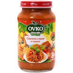 Ovko Bebelan Спагети с пиле и сирене 8М+ 220 гр