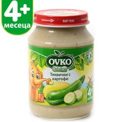 Ovko Bebelan Тиквички с картофи Пюре 4М+ 190 гр