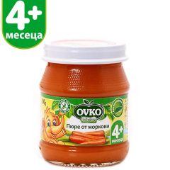 Ovko Bebelan Пюре от моркови 4М+ 100 гр