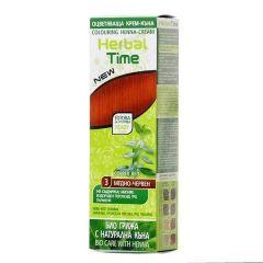 Herbal Time Оцветяваща крем-къна за коса Цвят 03 Медно-червен 75 мл