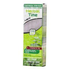 Herbal Time Оцветяваща крем-къна за коса Цвят 01 Сребристо рус 75 мл