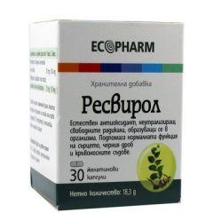 Ресвирол Антиоксидантна защита 50 мг х30 капсули Ecopharm