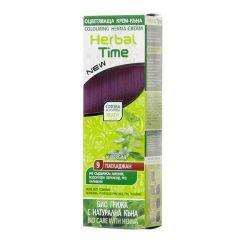 Herbal Time Оцветяваща крем-къна за коса Цвят 09 Патладжан 75 мл