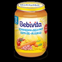 Bebivita пюре паста с шунка и зеленчуци 8М+ 220 гр