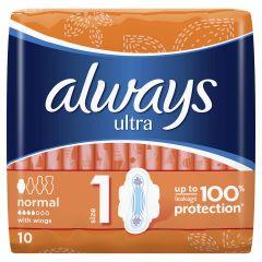 Always Ultra Normal Дамски превръзки x10 бр