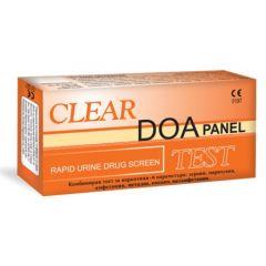 Clear DOA Combo-6 Комбиниран тест за наркотици и опиати с 6 параметъра Панел